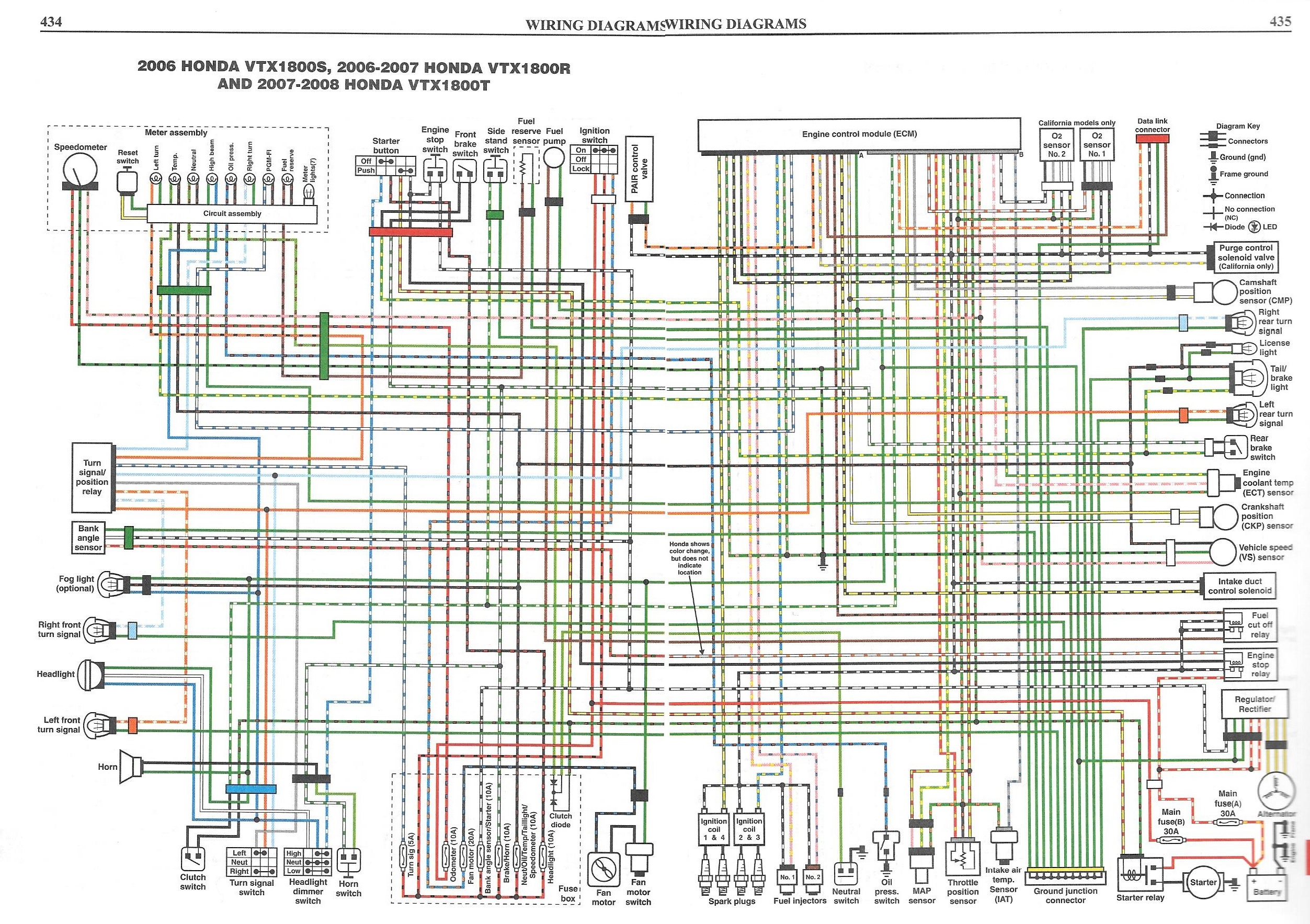 [SCHEMATICS_48DE]  Remote display LED indications (Turn, F1, Fuel ect…) | Honda VTX 1300 / VTX  1800 Motorcycles Forum | Vtx 1800c Wiring Diagram |  | VTX Cafe