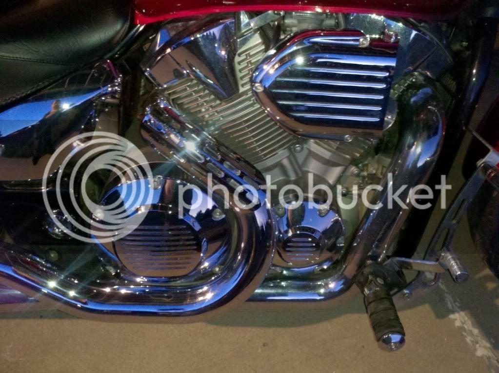 melted side cover  what to do? | Honda VTX 1300 / VTX 1800