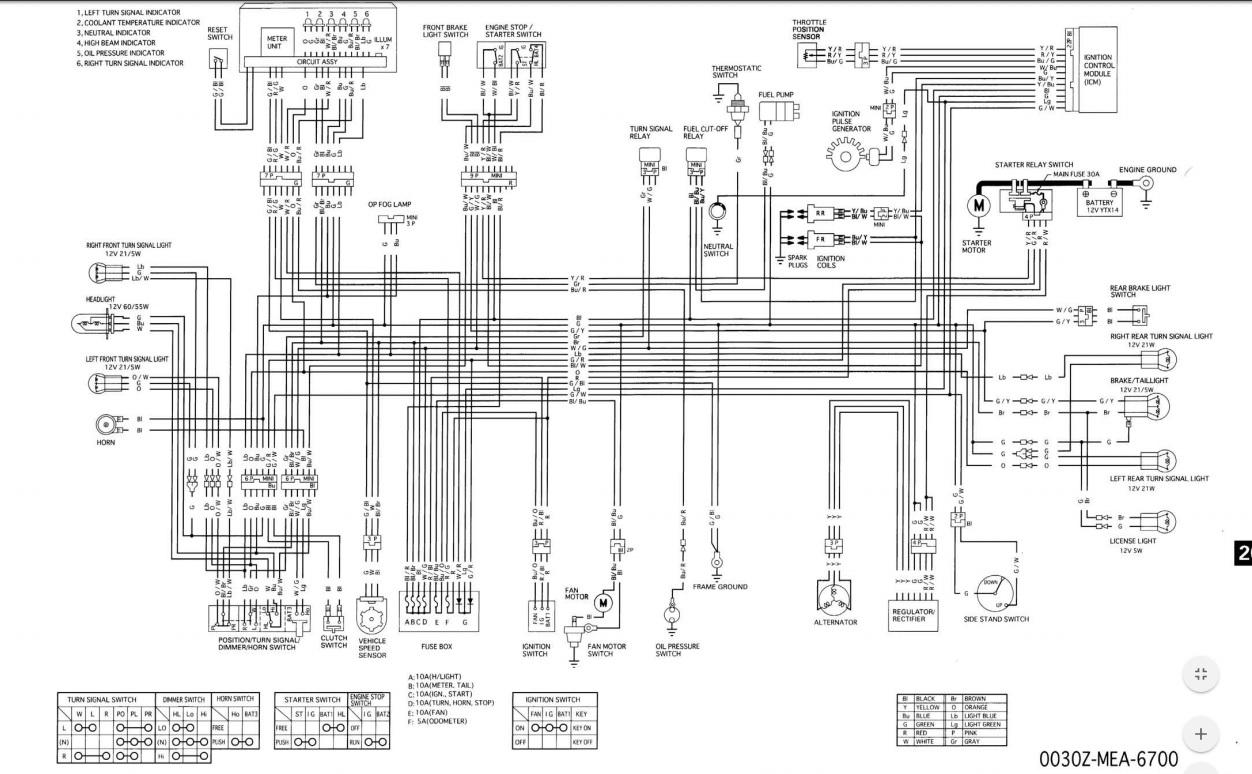 Electrical System Wiring Diagram | Honda VTX 1300 / VTX 1800 Motorcycles  ForumVTX Cafe