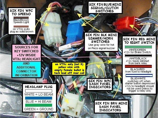 Vtx 1800c Tach Lead In Headlight