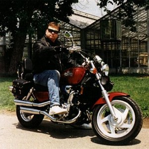 Jesse James on previously owned 1995 Honda Magna
